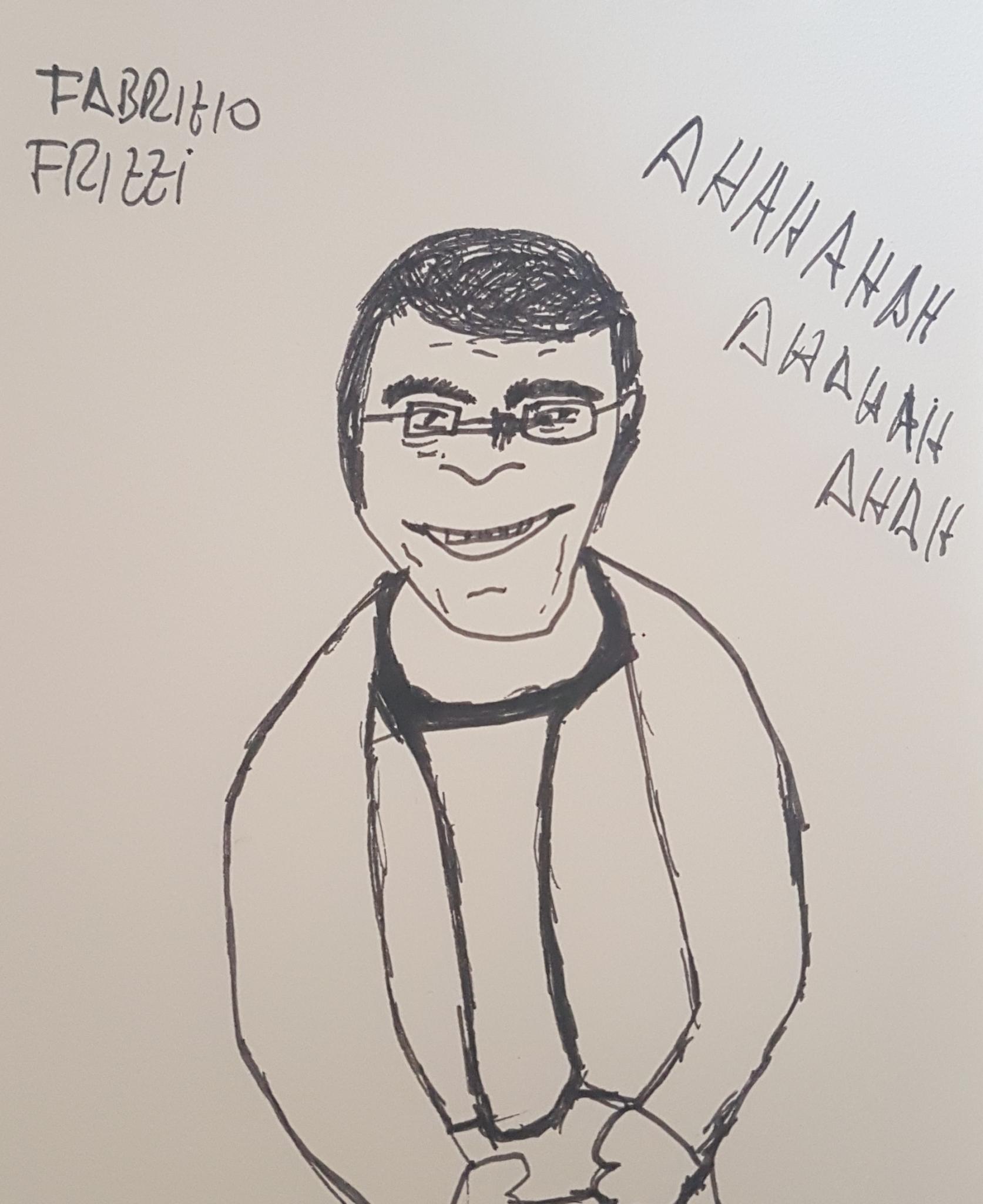 Fabrizio Frizzi che rideva sempre